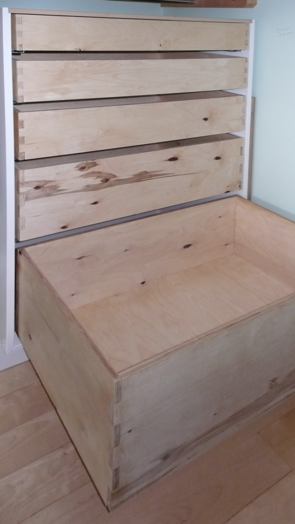 Large Drawers on full extension drawer runners