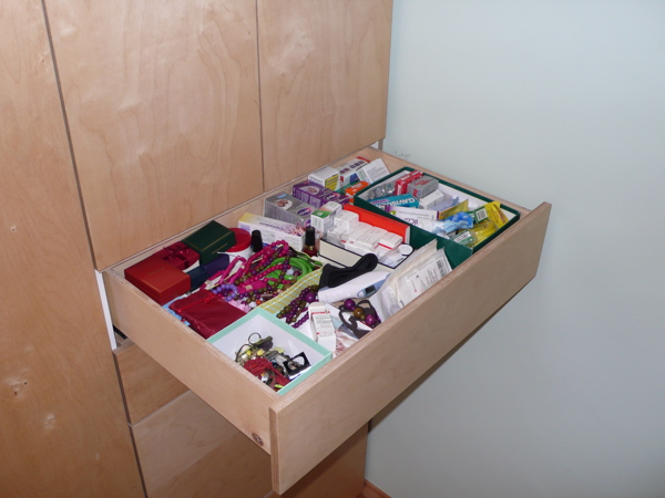 Large Top Drawer puts medicines and valuable trinkets out of reach
