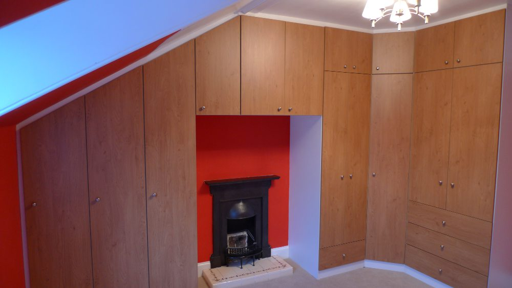 Bedroom Suite Under Sloping Ceiling Diy Wardrobes