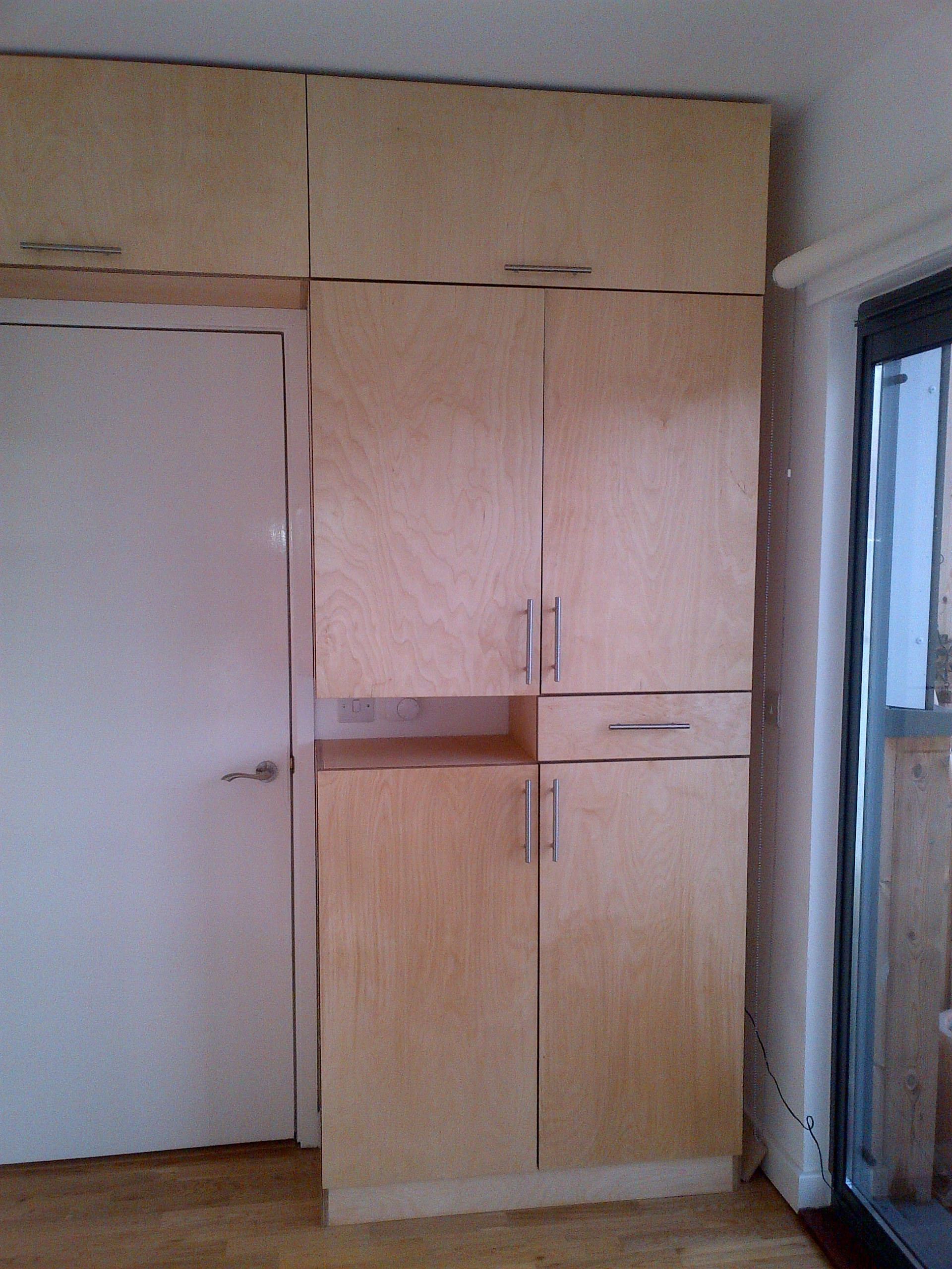 Birch Ply Cabinetry - right side of room