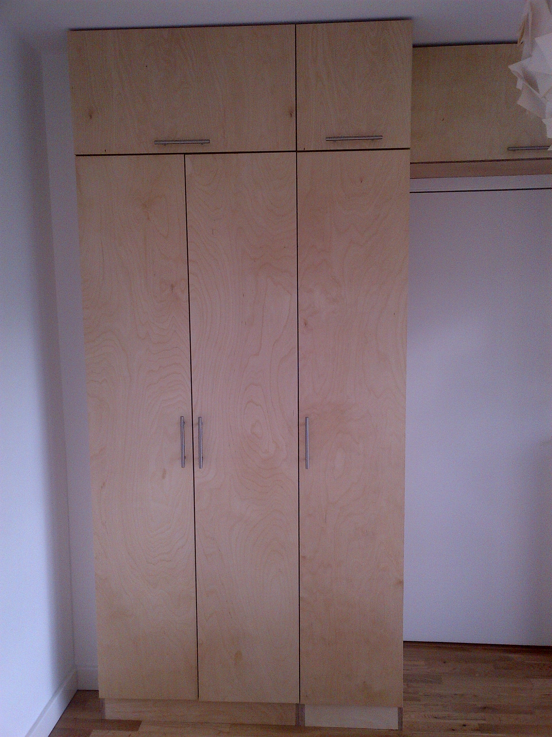 Birch Ply Cabinetry For Living Room Diy Wardrobes