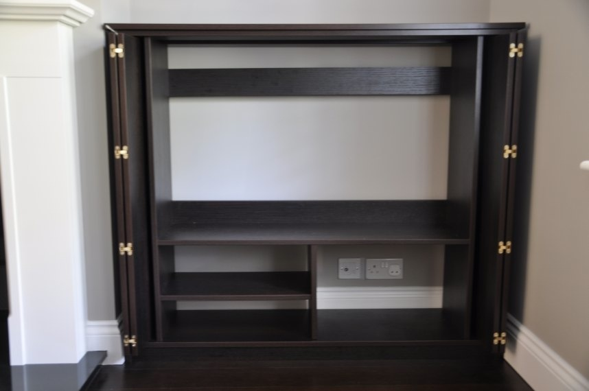 Living Room Alcove Cupboards In Black Brown Oak Diy
