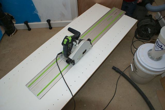Cutout started with a Festool TS55