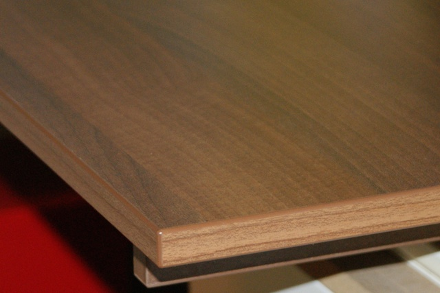 Walnut effect MFC with 2mm edgebanding