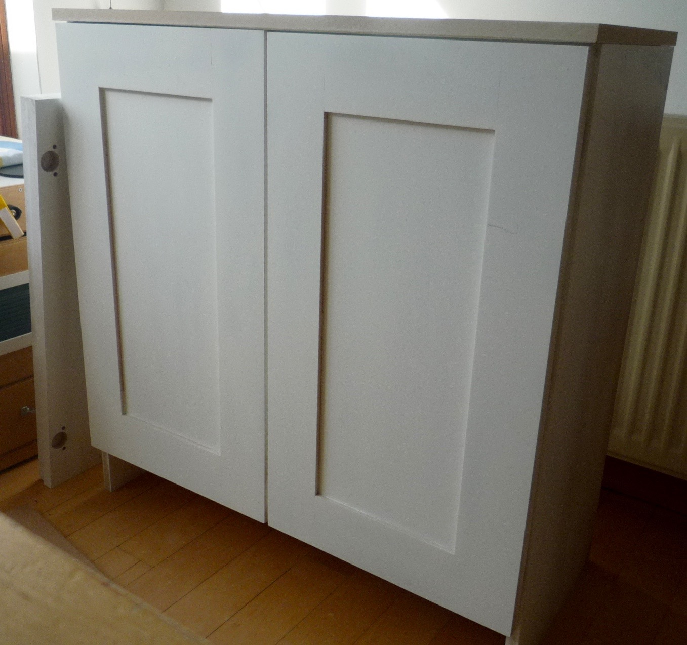 Primed Mdf Cupboards With Shaker Style Doors Part I Diy
