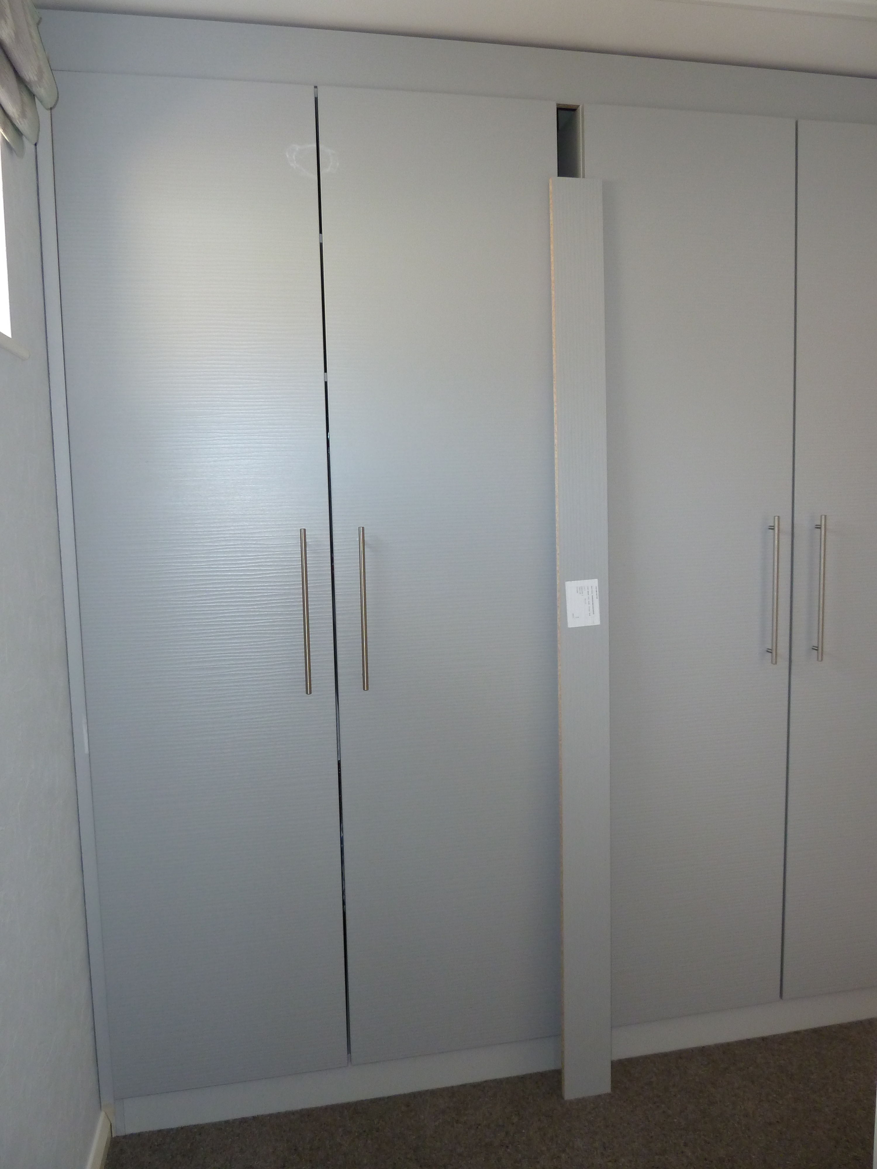 Built In Bedroom Wardrobes Pearl Grey Waveline Finish