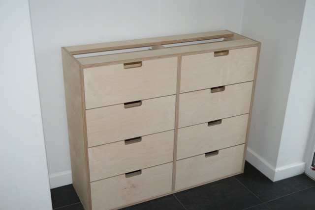 BIrch Ply chest of drawers
