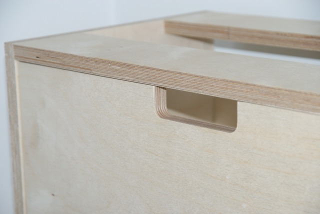 Birch Ply drawer - routed handle detail